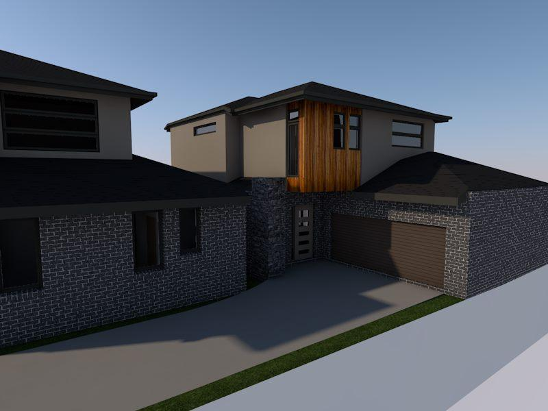 Home renovation design with parking