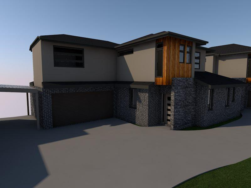 Home renovation plan with parking