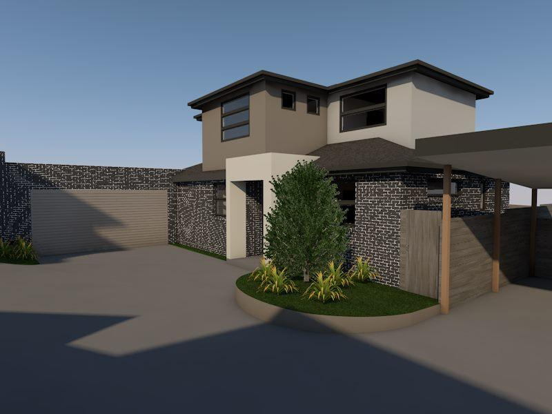 Home renovation design with shade parking