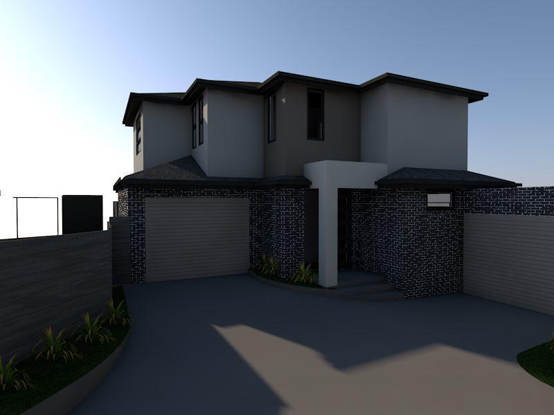 Home renovation design with dual door parking