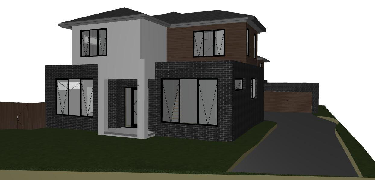 Home renovation with car parking behind